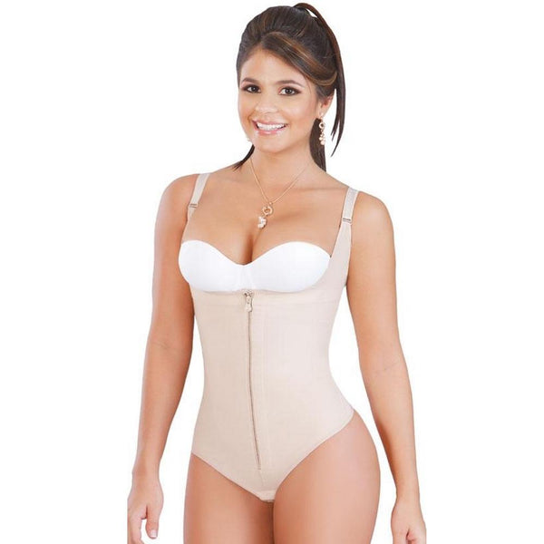 Faja-Salome-0351-High-Back-Body-Shaper-compression-Thong-beige