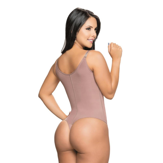 Faja-Salome-0539-J-Liposculpture-Thong-Braless-Girdle-Bodysuit-Coffe