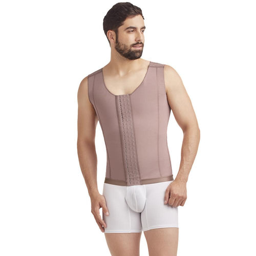 Delie by Fajas Diseños DPrada Faja Colombiana 11017 Post-Surgical Male Girdle Cafe'