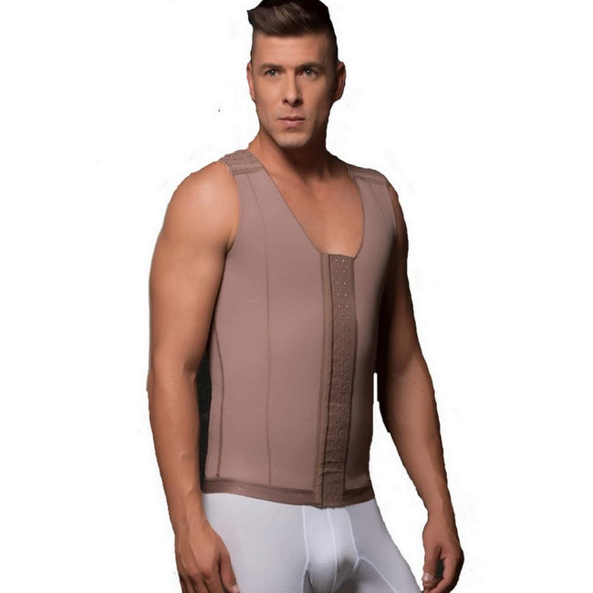 Delie by Fajas Diseños DPrada Faja Colombiana 09017 Post-Surgical Male Girdle Cafe'