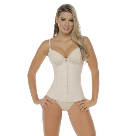 3002E Faja Colombiana Yulii Deportiva Faja Chaleco Latex Waist Training Girdle Thick   Straps