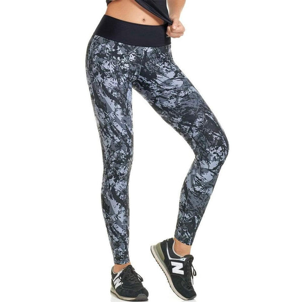 Haby 61400 Women High Waist Sports Tights Workout Running Pant Legging Grey