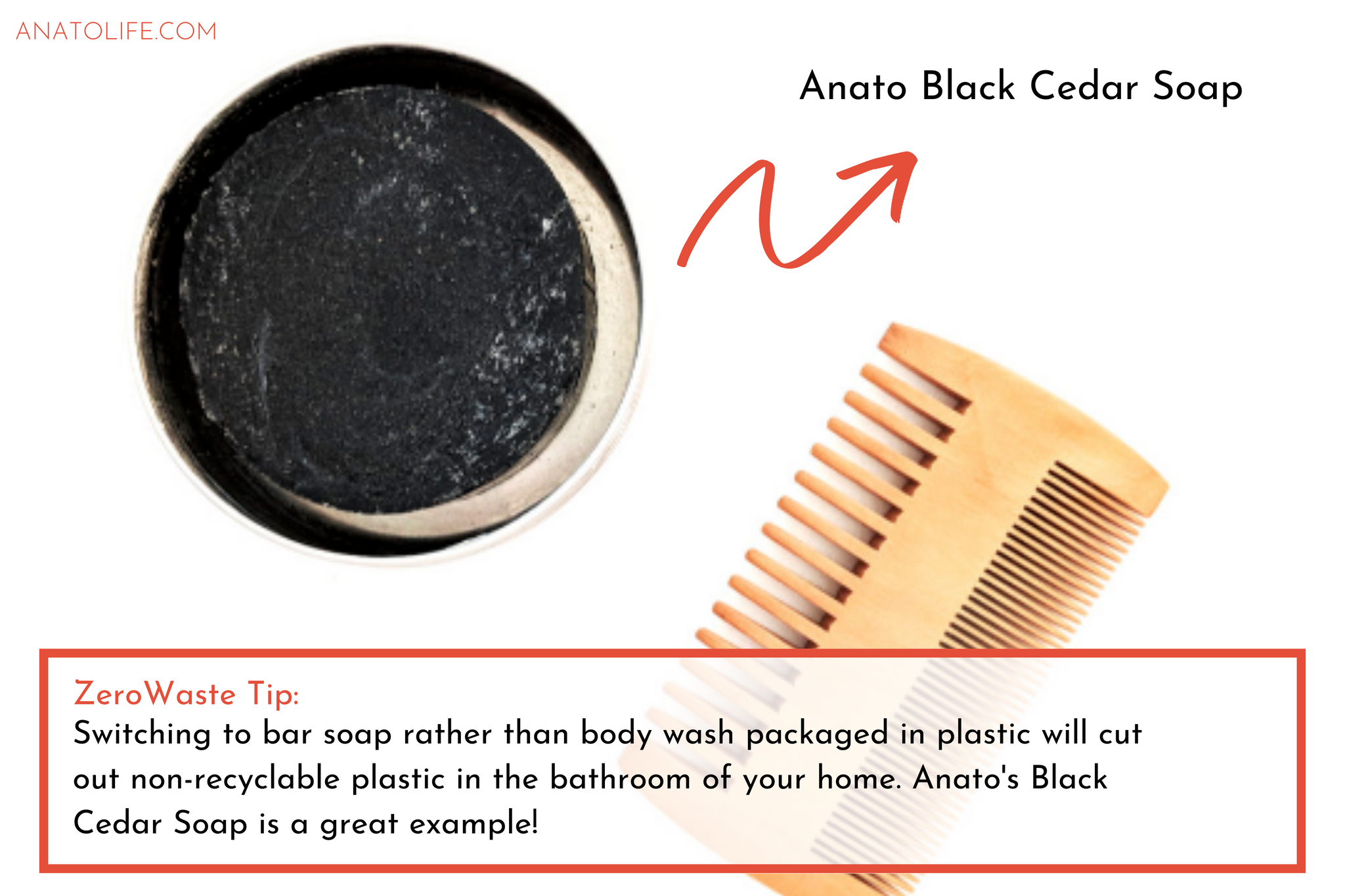 Anato Black Cedar Soap | ANATO LIFE regenerative_zero waste skincare from trees