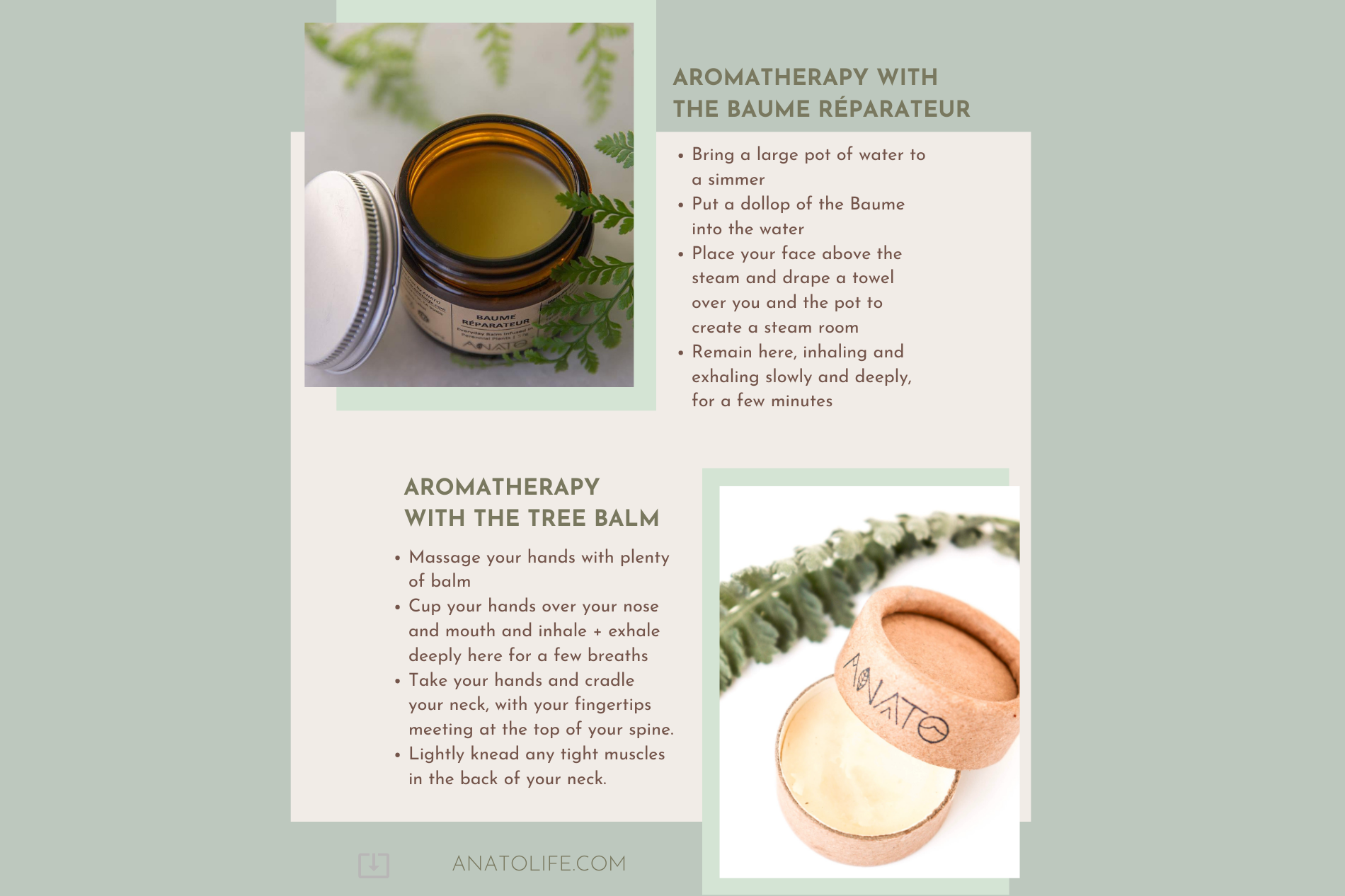 Aromatherapy with skincare from trees