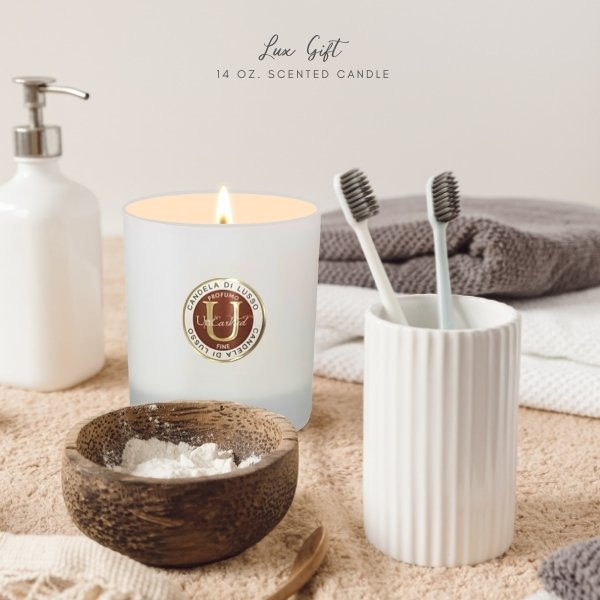 BLOG - 14 OZ. LUX GIFT CANDLE - luxury scented coconut oil wax essential oil perfume quality fragrance candle scented