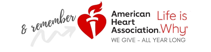 FEBRUARY AMERICAN HEART MONTH AHA American Heart Association life is why donate support give products luxury scented candles
