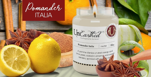 Pomander Italia, citrus spiced, Fall Favorite, Luxury Scented Vegan Soy Candle