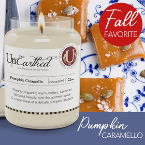 Pumpkin Caramello, Fall Favorite, Luxury Scented Vegan Soy Candle