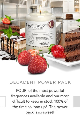 decadent christmas gift scented candles baked goods vanilla yummy luxury fragrance essential oils