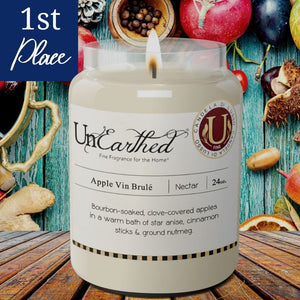 Apple Vin Brulee, Mulled Cider, Scented Luxury Vegetable, Soy Candle