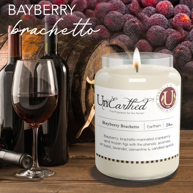 Bayberry Christmas Scented Candle, Brachetto