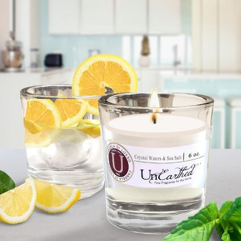 crystal waters and sea salt essential oil infused vacation scented candle fragrances top sellers for the spring and summer this year