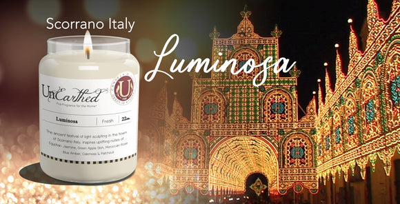 Luminosa, Luxury Scented Candle, New Spring 2020, High Performance, High End Scented Candles