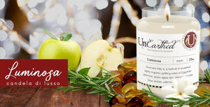 Luminosa, luxury scented natural soy vegan candle, perfume and fine fragrance for the home