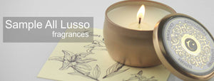 Luxury Candle sample pack,  Lusso Latta travel scented candles