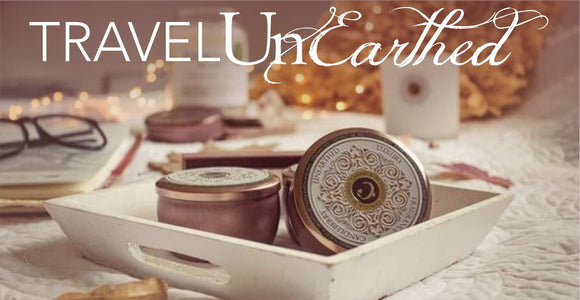 Travel Candles in Tin, Luxury Fragrances with Essential Oil