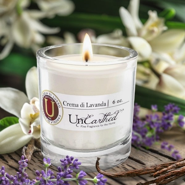 vanilla lavender essential oil scented candle fragrance options with soy and coconut
