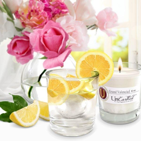 grand valencia orange scented candle gorgeous reusable hiball glass scented luxury candle crystal clear service for 6