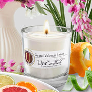2highly scented grand valencia citrus orange lemon 6 oz reusable candle  made with soy and essential oils