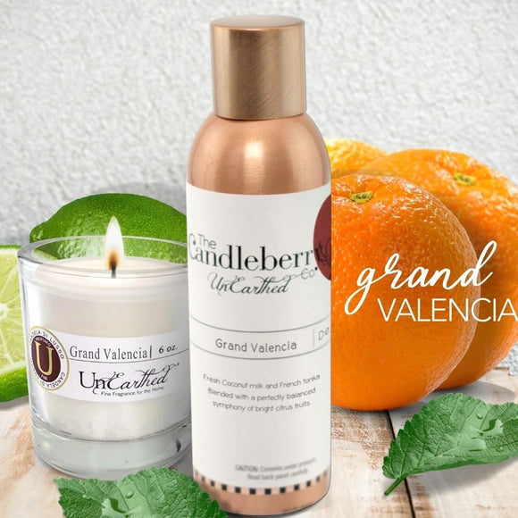 Concentrated Room Sprays - GRAND VALENCIA - citrus lemon lime grapefruit blend premium strong highly scented candles