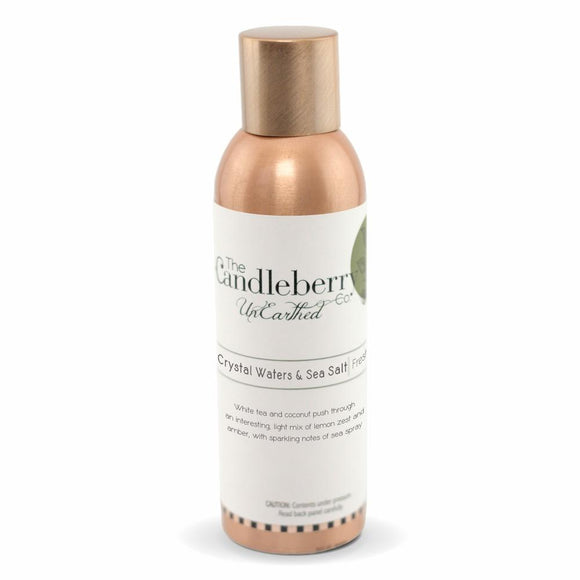 Unearthed Fragrance Spray, Crystal Waters & Sea Salt - 6 oz. Copper Room Spray