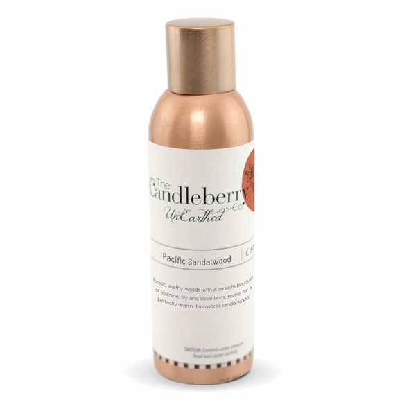 Unearthed Fragrance Spray, Pacific Sandalwood - 6 oz. Copper Room Spray