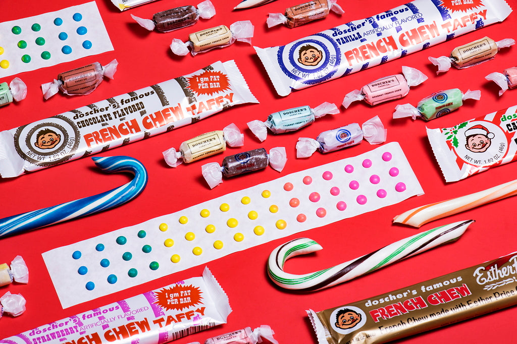 Doscher's Candies Candy Buttons French Chew Candy Canes