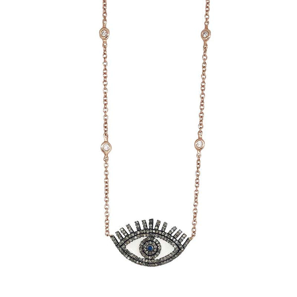 EVIL'S EYE ROSE NECKLACE