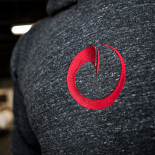 Origin Crimson Wave Hoodie (charcoal with red logo)