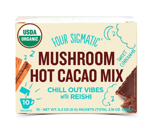 Organic Mushroom Hot Cacao with Reishi and Cinnamon (10 pack) by Four Sigmatic