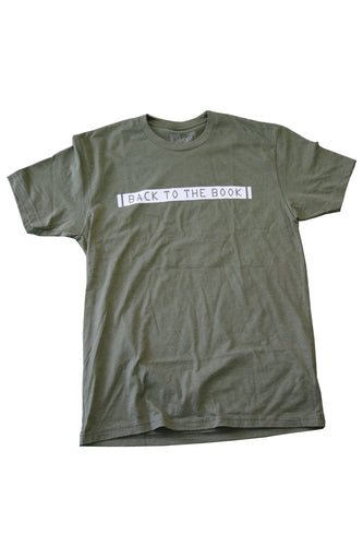 BACK TO THE BOOK TEE SHIRT (GREEN)