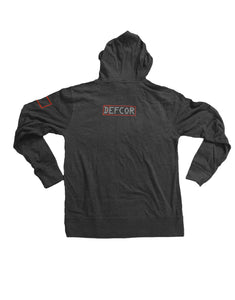 DISCIPLINE EQUALS FREEDOM HOODIE (Lightweight) Charcoal/Light Text