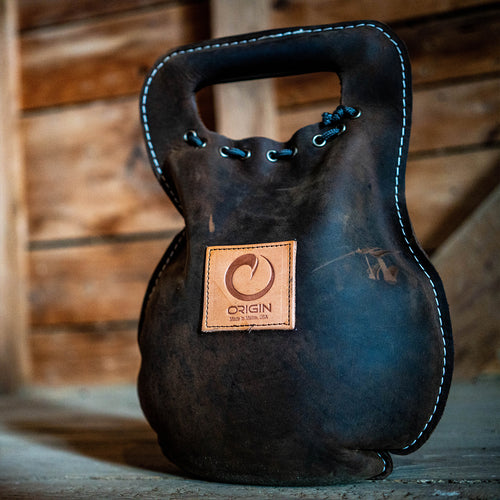 THE BURDEN - LEATHER KETTLEBELL/KETTLEBAG- ORIGIN USA