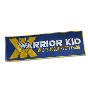 "WARRIOR KID PATCH 8""X 2.5"""