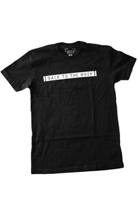 BACK TO THE BOOK TEE SHIRT (BLACK)