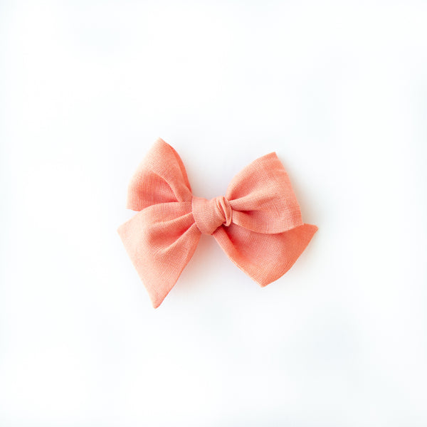 June - Coral Oversized Hand-tied