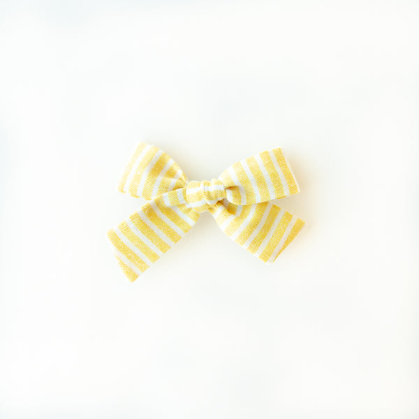 June - Yellow Stripe Hand-tied