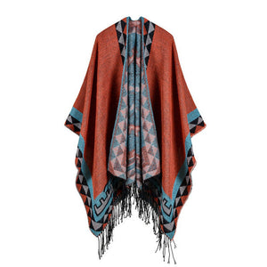 Chieftain Pashmina Poncho