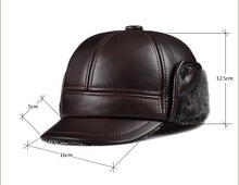 Fur-Trimmed Leather Bomber Hat