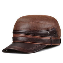Insulated Leather Cadet Cap