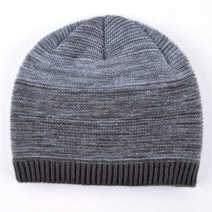 Lined Variegated Knit Beanie