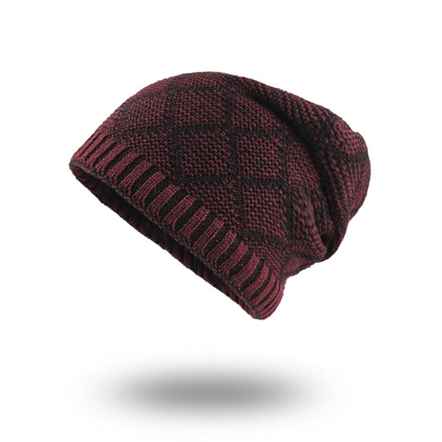 Diamond Knit Winter Beanie-Skullie-Skullie Station