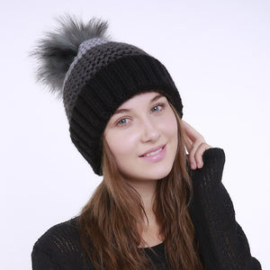 Colorblock Pom Beanie-Skullie-Skullie Station