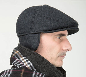 Solid Wool Ascot with Flaps