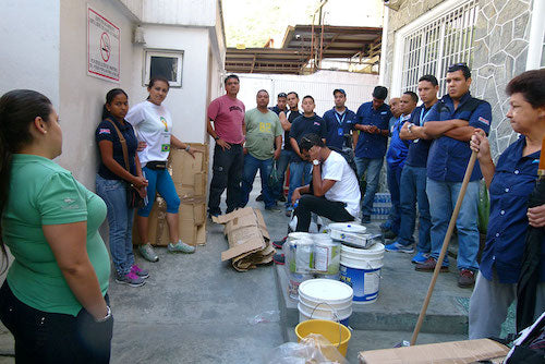 Entyva Team Painting School in South America