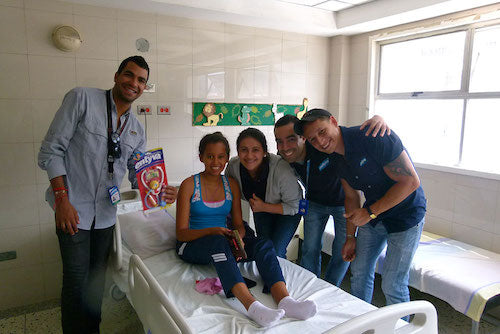 Entyva team and sick kid in the hospital
