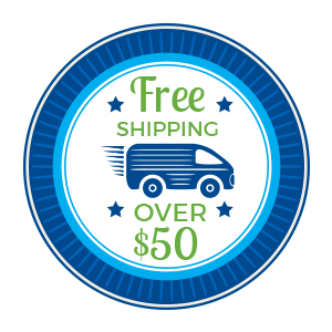 Free shipping over $50 badge