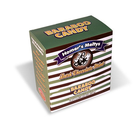 Dark Chocolate Mint Meltys 72ct Dispenser Box