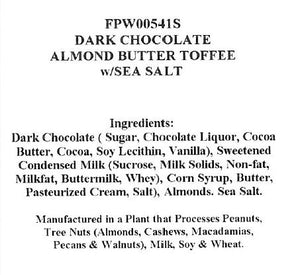 Dark Chocolate Almond Butter Toffee w/Sea Salt