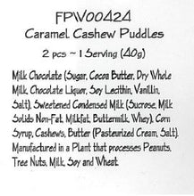 Milk Chocolate Caramel Cashew Puddles